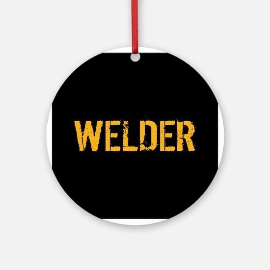 Welding: Stencil Welder (Black & Go Round Ornament