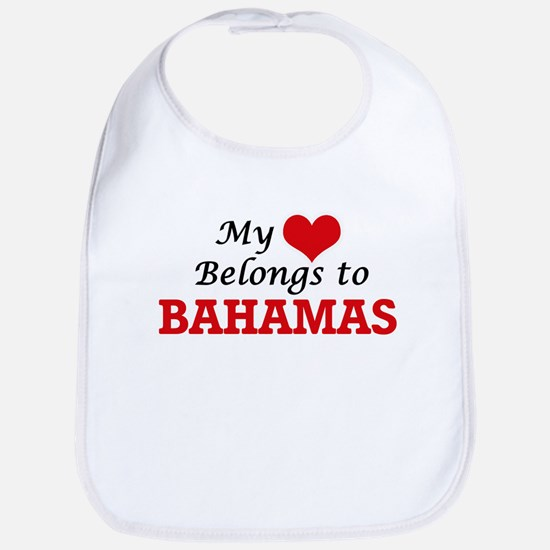My Heart Belongs to Bahamas Bib