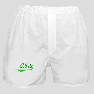 Abril Vintage (Green) Boxer Shorts