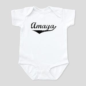 Amaya Vintage (Black) Infant Bodysuit