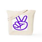 103. purple peace/ victory Tote Bag