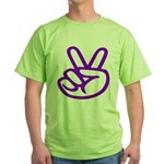 103. purple peace/ victory Green T-Shirt