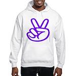 103. purple peace/ victory Hooded Sweatshirt