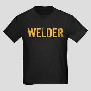 Welding: Stencil Welder Kids Dark T-Shirt