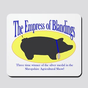 Wodehouse-tribute Empress of Blandings Mousepad