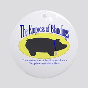 Wodehouse Empress of Blandings Round Ornament