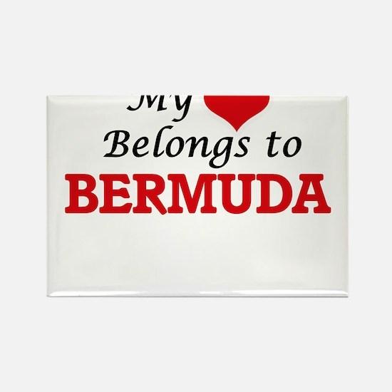 My Heart Belongs to Bermuda Magnets