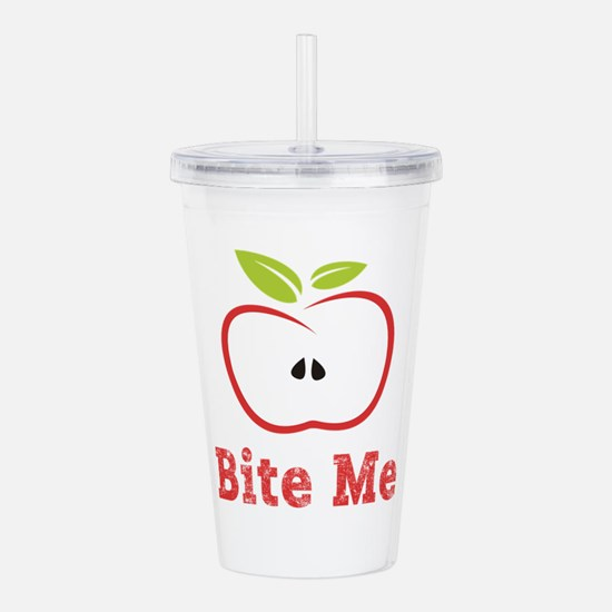 Red Apple Illustration Acrylic Double-wall Tumbler