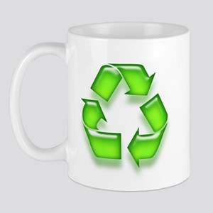 Neon Recycle Sign Mug
