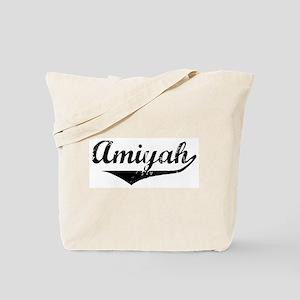 Amiyah Vintage (Black) Tote Bag