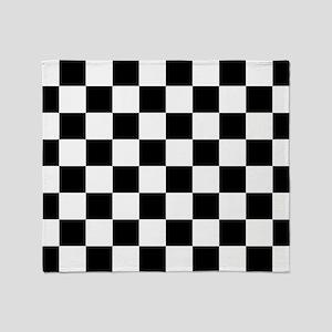 Black: Checkered Pattern Throw Blanket