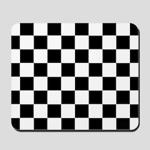Black: Checkered Pattern Mousepad