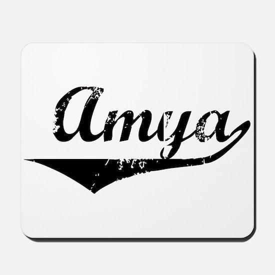Amya Vintage (Black) Mousepad