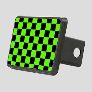 Checkered Pattern: Black & Rectangular Hitch Cover