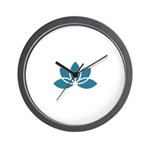 Lively Lotus Wall Clock