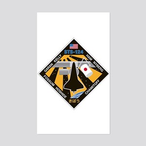 STS 124 Rectangle Sticker