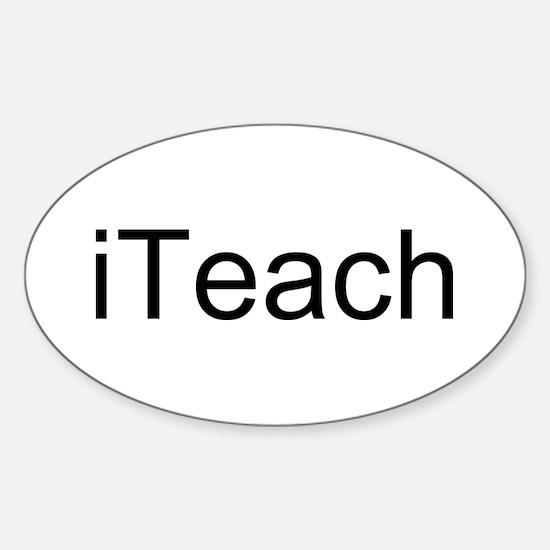 iTeach Sticker (Oval)