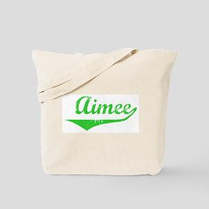 Aimee Vintage (Green) Tote Bag