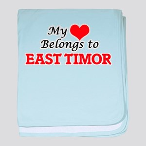 My Heart Belongs to East Timor baby blanket