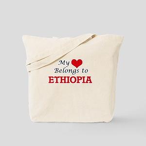 My Heart Belongs to Ethiopia Tote Bag