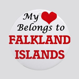 My Heart Belongs to Falkland Island Round Ornament