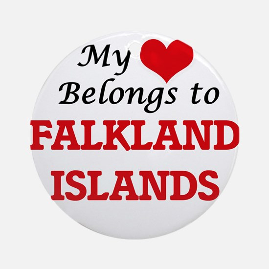 My Heart Belongs to Falkland Island Round Ornament