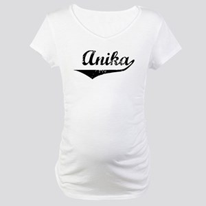 Anika Vintage (Black) Maternity T-Shirt