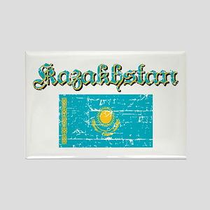 Kazakh Flag Rectangle Magnet