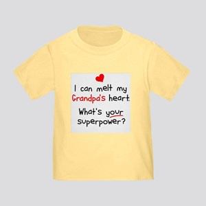 Melt Grandpa's Heart Toddler T-Shirt