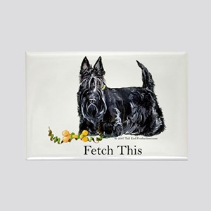 Scottish Terrier Holiday Dog Rectangle Magnet
