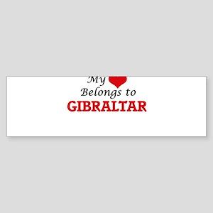 My Heart Belongs to Gibraltar Bumper Sticker