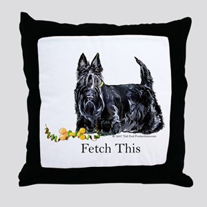 Scottish Terrier Holiday Dog Throw Pillow