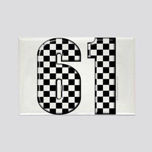 Racing Number 61 Rectangle Magnet