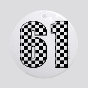 Racing Number 61 Ornament (Round)