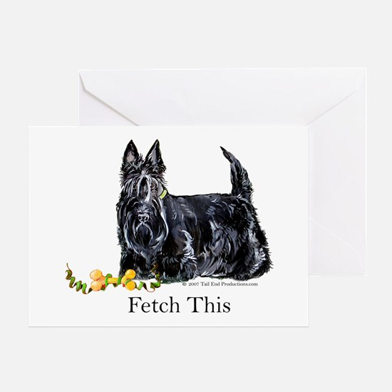Scottish Terrier Holiday Dog Greeting Card