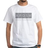 Aposw Mens Classic White T-Shirts