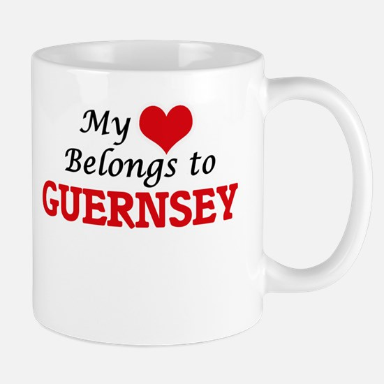 My Heart Belongs to Guernsey Mugs