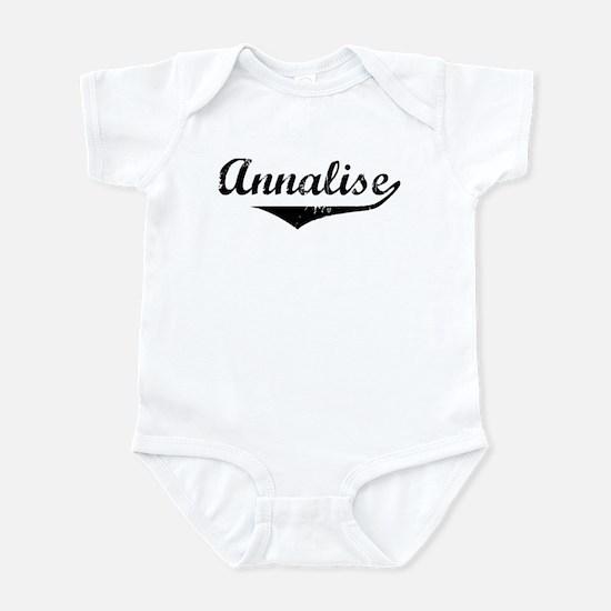 Annalise Vintage (Black) Infant Bodysuit