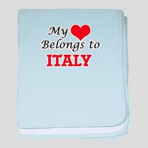 My Heart Belongs to Italy baby blanket
