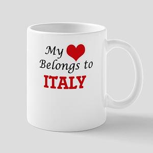 My Heart Belongs to Italy Mugs