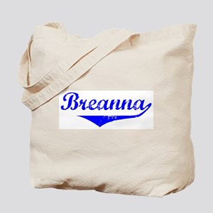 Breanna Vintage (Blue) Tote Bag