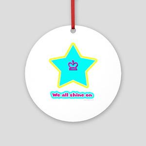 Shine On Round Ornament by Nicole Designs