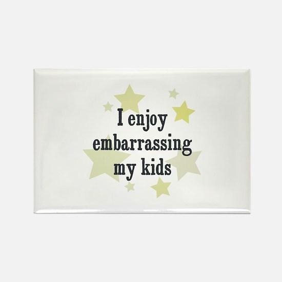 I enjoy embarrassing my kids Rectangle Magnet