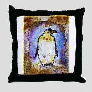 Penguin! Wildlife art! Throw Pillow