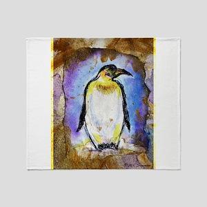Penguin! Wildlife art! Throw Blanket