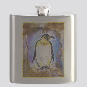 Penguin! Wildlife art! Flask