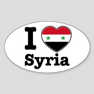 I love Syria Oval Sticker