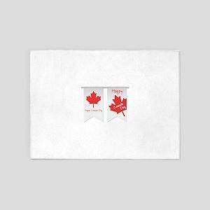 Happy Canada Day 5'x7'Area Rug