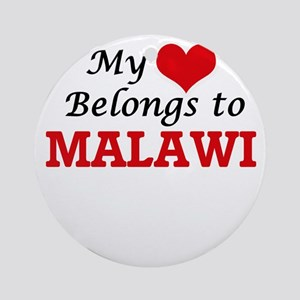 My Heart Belongs to Malawi Round Ornament