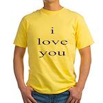 315. i love you. . Yellow T-Shirt